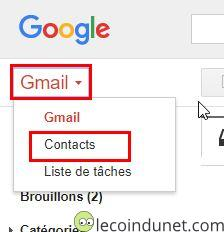 Gmail - Contacts