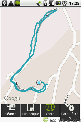 map endomondo Android