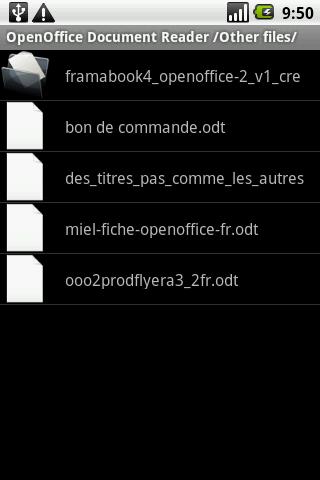 exporateur openoffice document reader