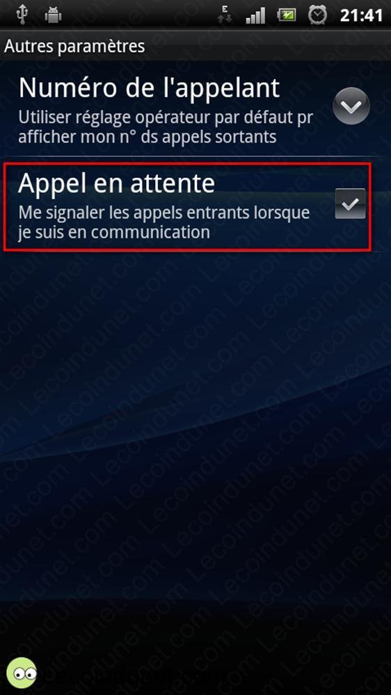 etape 4 Activer double appel
