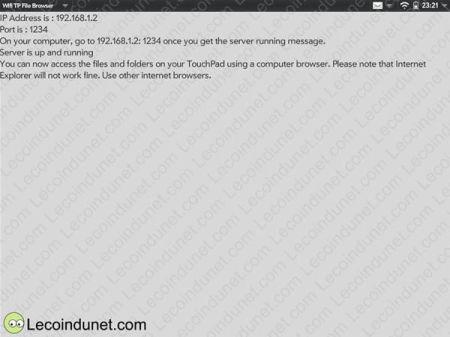 Wifi TP File Browser ecran