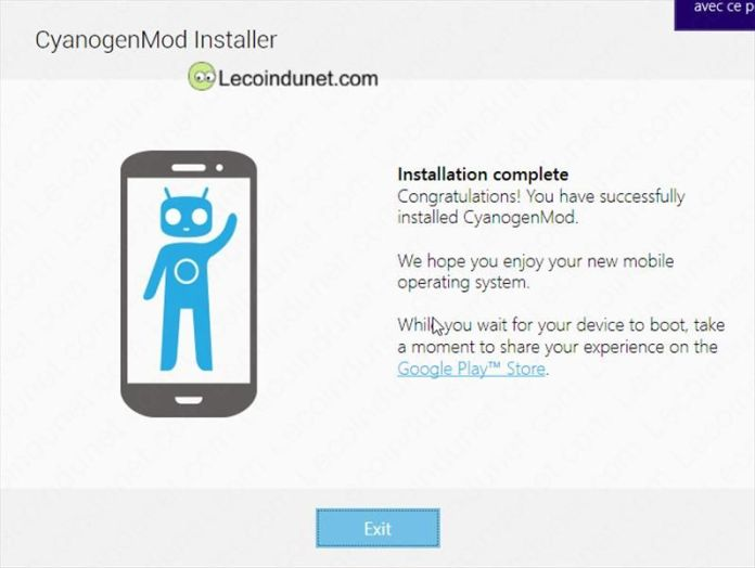 CyanogenMod Installer Finish