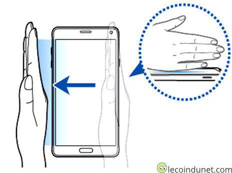 samsung Galaxy S5 - Balayer pour capturer
