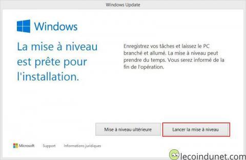 Windows 10 - Lancer la mise à jour