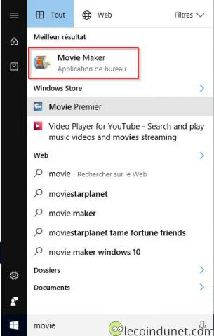 Windows Essential 2012 - Icône Movie Maker