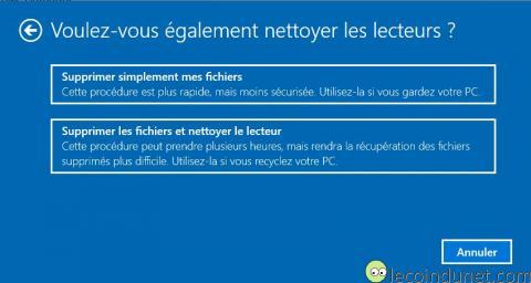 Windows 10 - Supprimer simplement mes fichiers