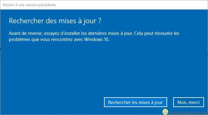 Windows 10 - Recherche Windows update