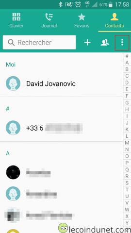 Exporter Vos Contacts Android Sur La Carte SD Ou Memoire Interne