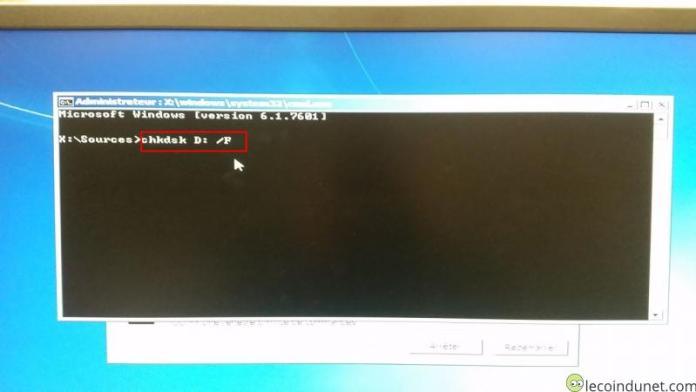 Windows 7- Réparer avec CHKDSK