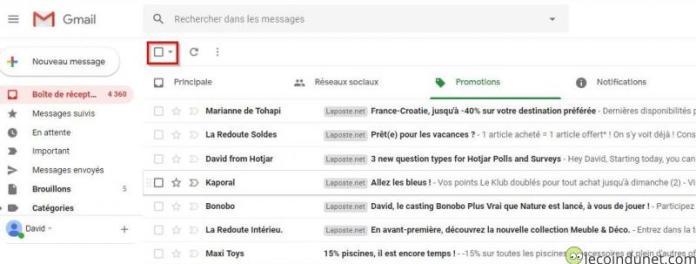 Gmail - Sélection mail