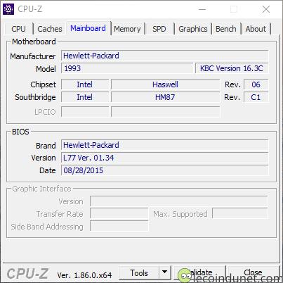 CPU-Z - Carte mère