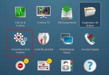 Paramètres - freebox OS