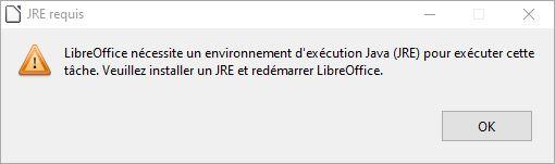 jre pour libreoffice