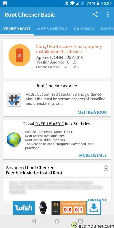 Erreur root - Root Checker