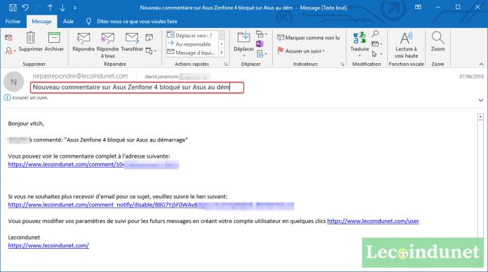 Comment Modifier Un Mail Recu Dans Outlook Lecoindunet