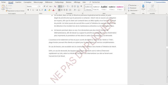 Deux méthodes pour supprimer un filigrane dans Word