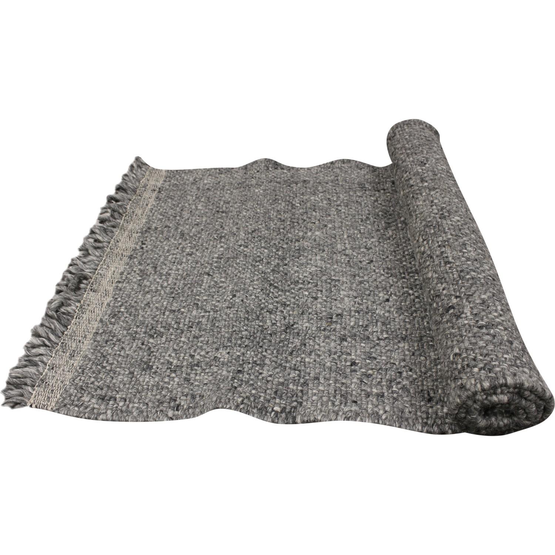 tapis laine avec franges