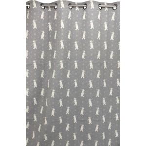 rideau interlaken gris clair