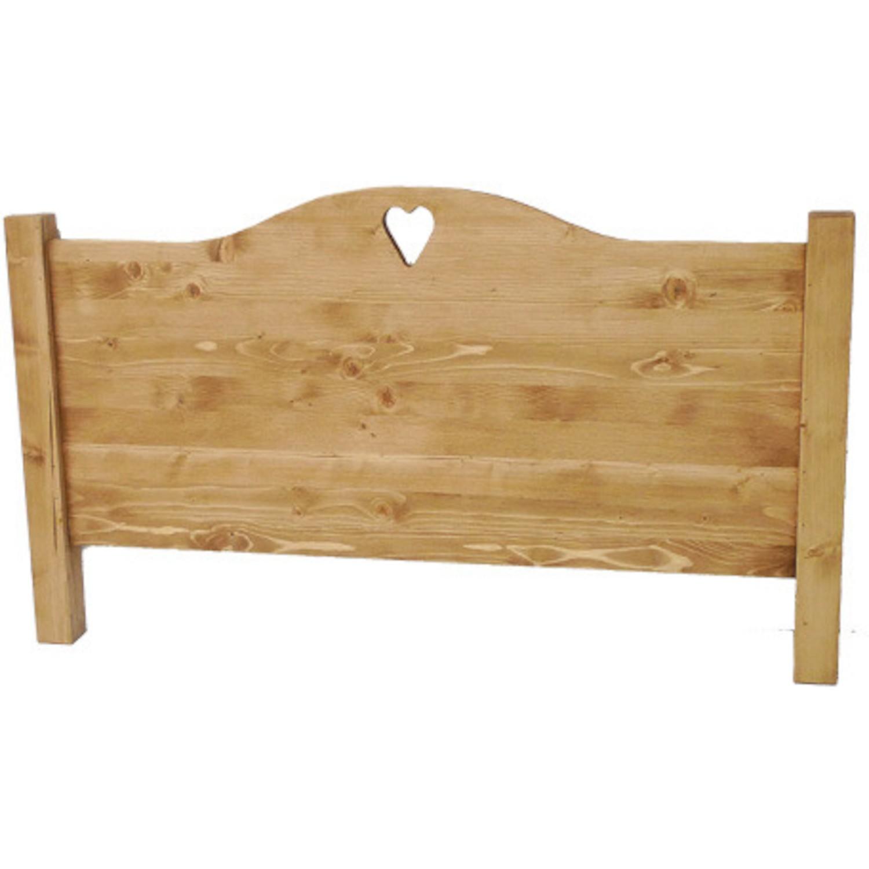 tete de lit bois massif coeur chapeau de gendarme