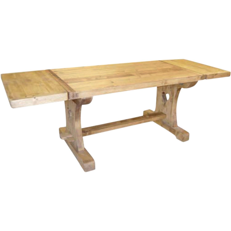 table monastere coeur avec 2 allonges 40 cm