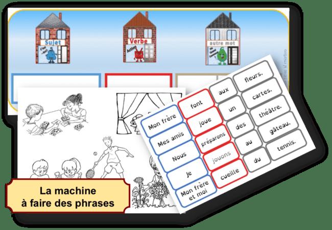 la machine a faire des phrases pour stimuler le langage