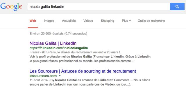 anonyme google pour Linkedin ou viadeo