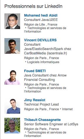 profils sur Linkedin competences