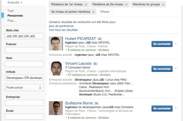 demande de mise en relation LinkedIn