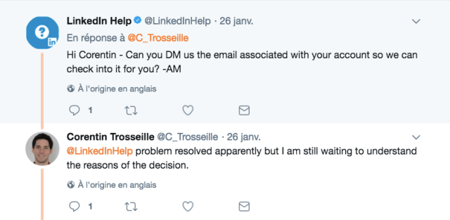 interpeller linkedin sur twitter