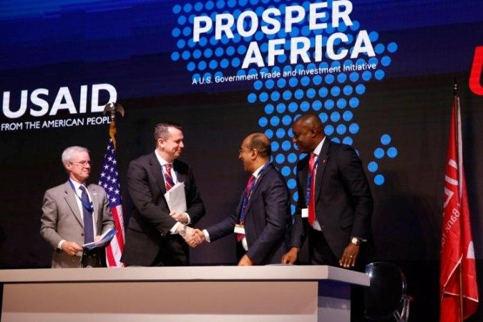 Signature d'accord USA Afrique
