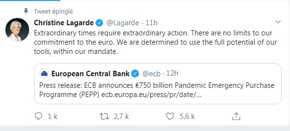 Tweet Christine Lagarde