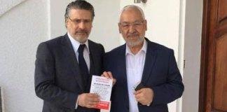 Rached Ghannouchi & Nabil Karoui