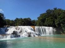 Cascate di Agua Azul in Chiapas, Messico