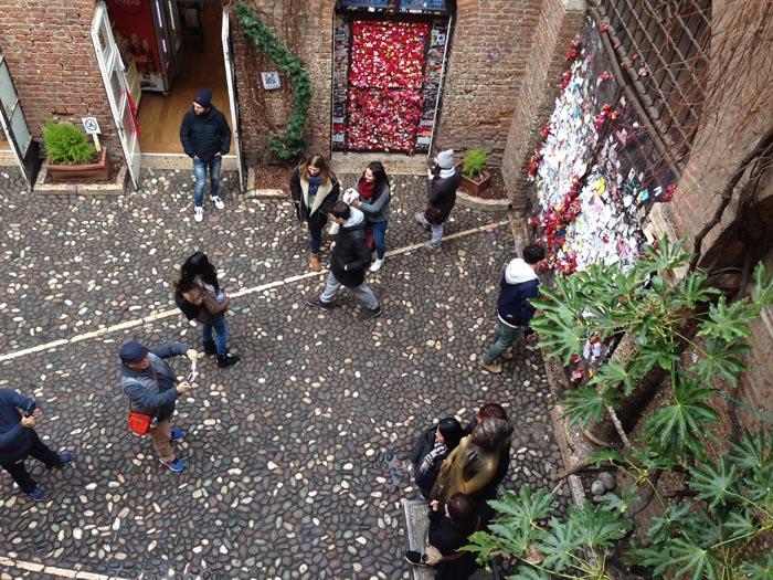 Casa di Giulietta a Verona - cortile
