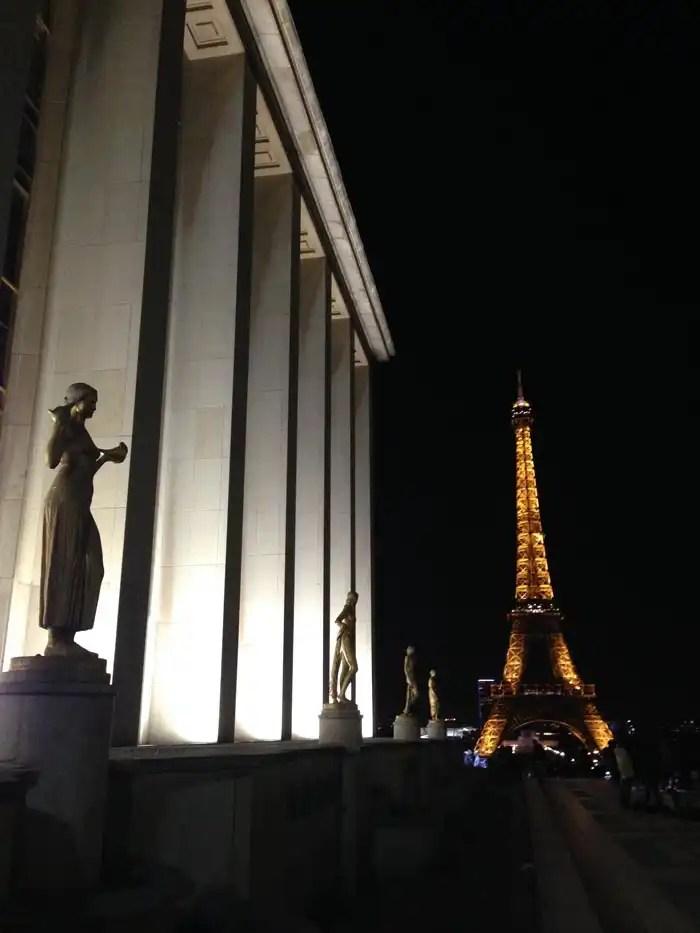 Vista della Torre Eiffel dal Trocadero