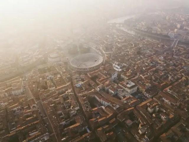Arena di Verona veduta dall'alto
