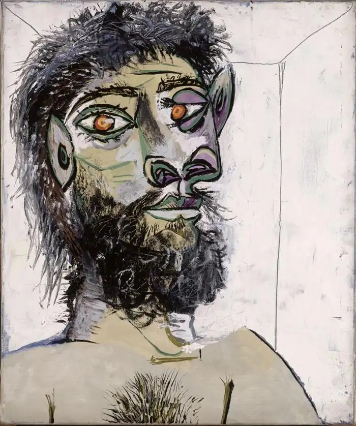 Picasso TÍte d'homme barbu