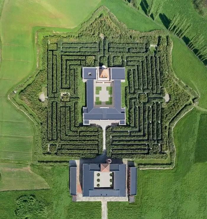 Labirinto della Masone di Fontanellato vista aerea