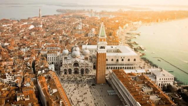 Campanile di San Marco a Venezia, vista dall'alto