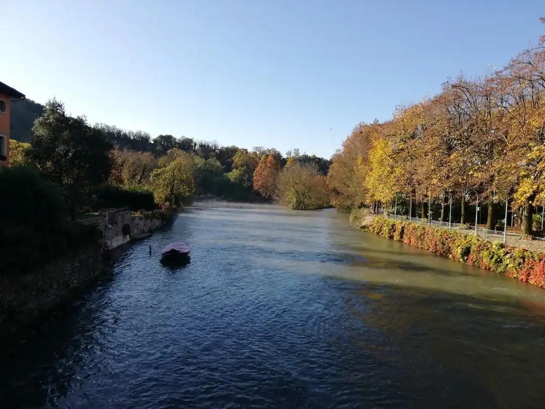Vista dal Ponte di Legno a Borghetto sul Mincio