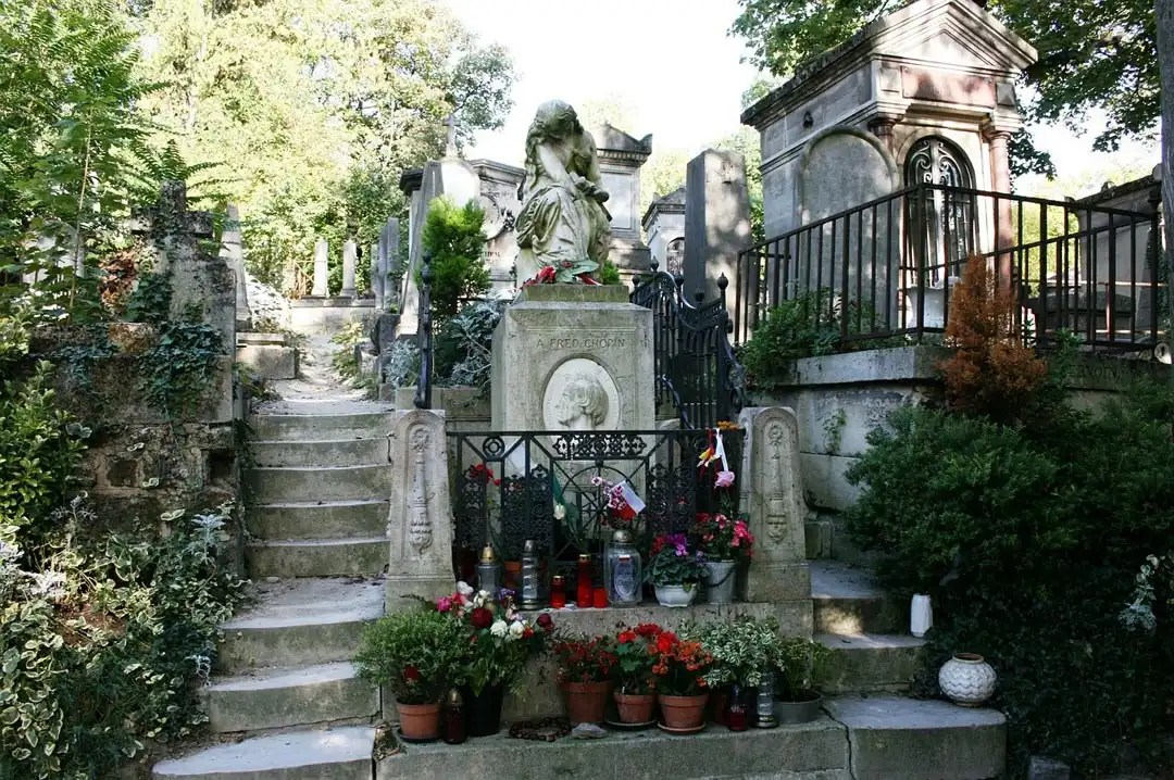 tomba Chopin cimitero di Perè-Lachaise Parigi