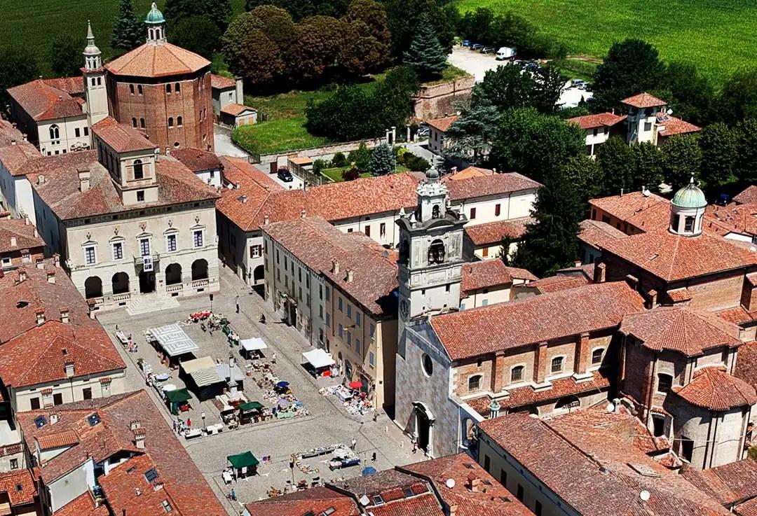 Palazzo Ducale di Sabbioneta vista dall'alto