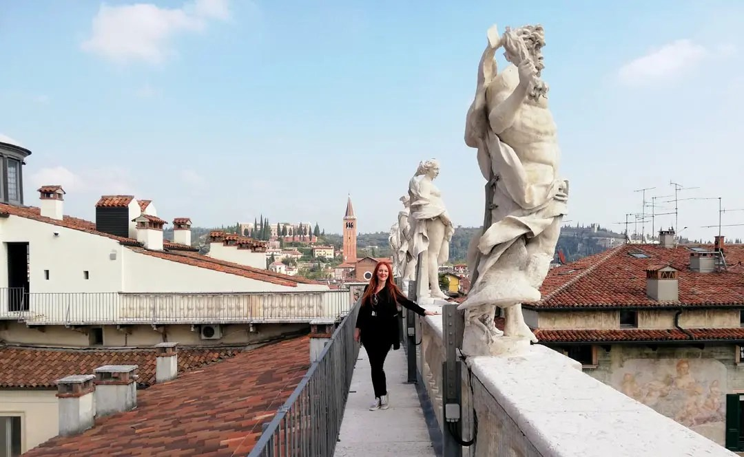 Palazzo Maffei Verona: la terrazza panoramica