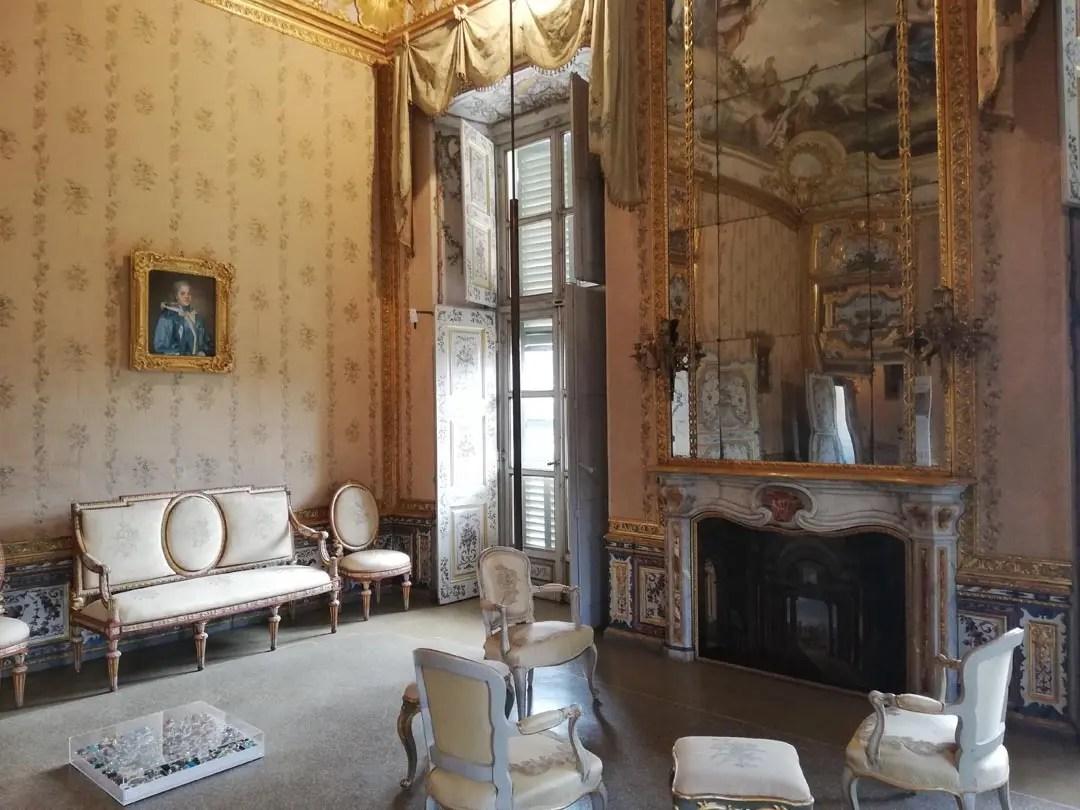 Palazzina Stupinigi interni: appartamenti della Regina