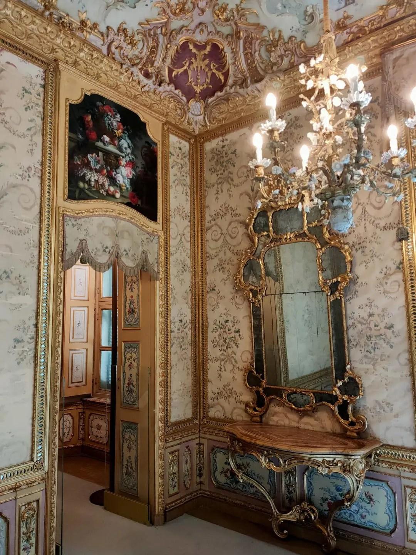 Palazzina Stupinigi interni: stanza degli specchi