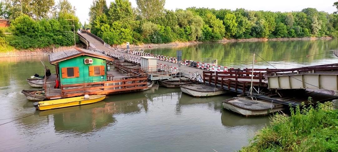 Ponte di Torre d'Oglio: il ponte delle barche vicino al Po