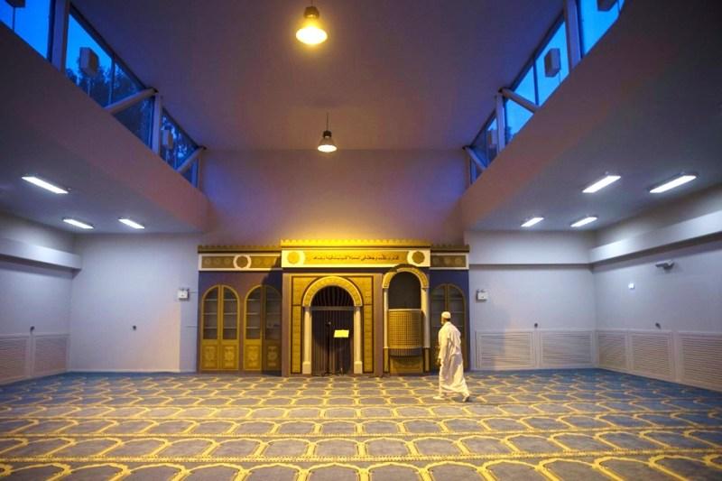 Salle de prière de la mosquée.