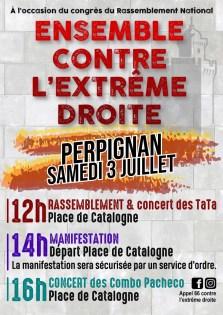 Une contre-manifestation au Rassemblement national ce samedi à Perpignan