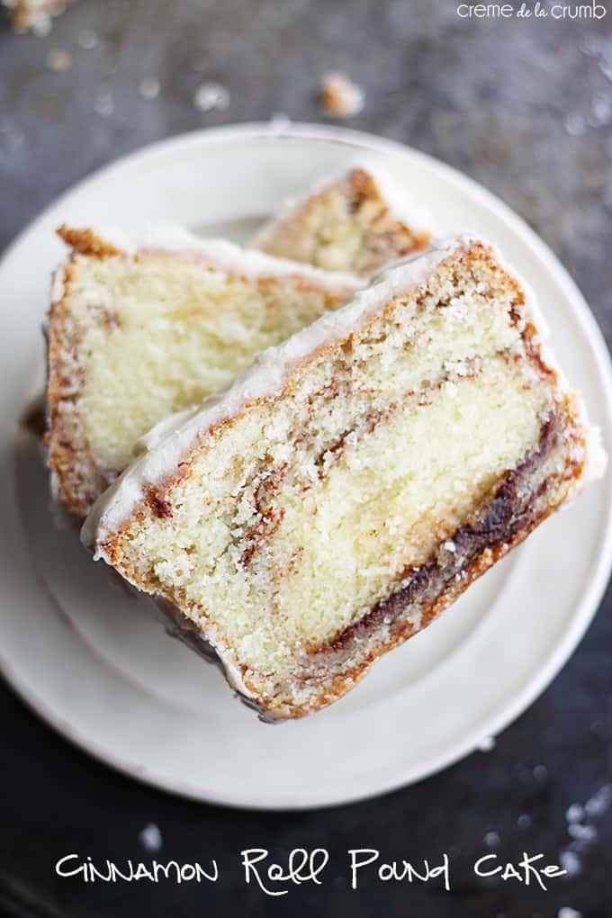 Cinnamon Roll Pound Cake Recipe | Creme de la Crumb
