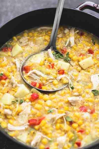 Leftover Turkey Corn Chowder   lecremedelacrumb.com